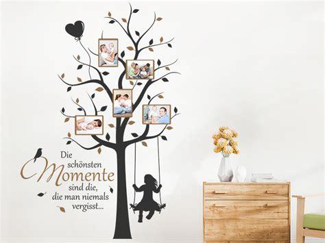 Wandtattoo Fotorahmen Baum Momente Mit Spruch
