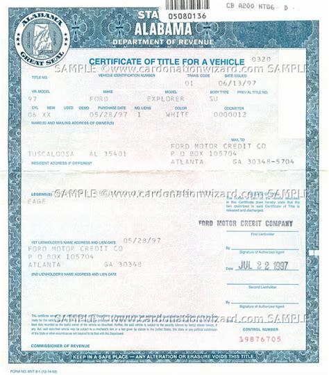 alabama title transfer donate a car in al on car