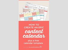 How to Create an Epic Content Calendar for 2018 With