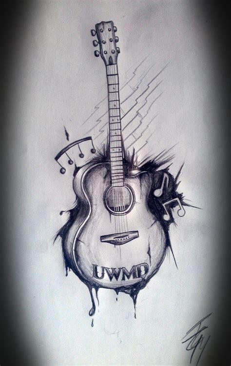 guitar tattoo images designs