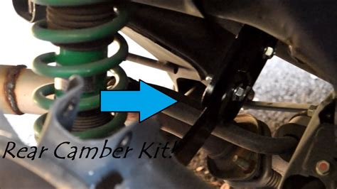 rear camber kit install   lancer gt youtube