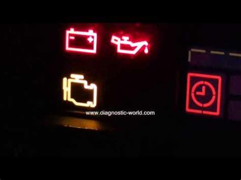 mercedes engine management warning light   diagnose