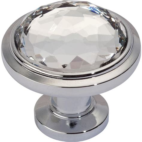round chrome cabinet knobs dewalt legacy crystal collection 1 1 4 in polished chrome