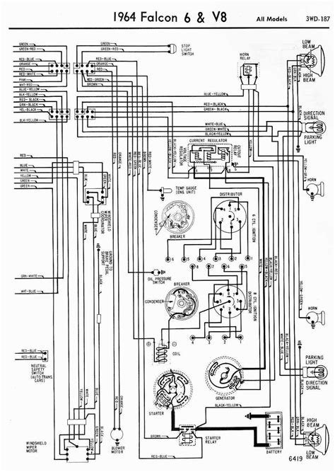 1964 ford falcon wiring diagram wiring diagrams of 1964 ford 6 and v8 falcon all part 2