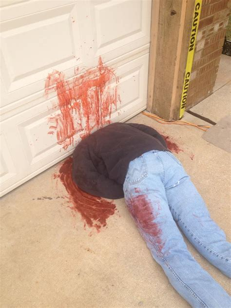 Fake Dead Body Halloween Decorations Cause Frightened