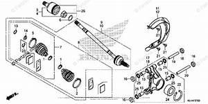 Honda Side By Side 2017 Oem Parts Diagram For Rear Knuckle