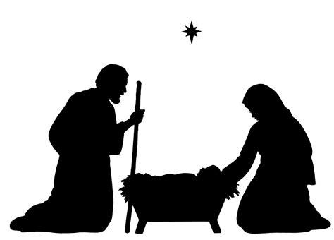 printable nativity silhouette  getdrawings