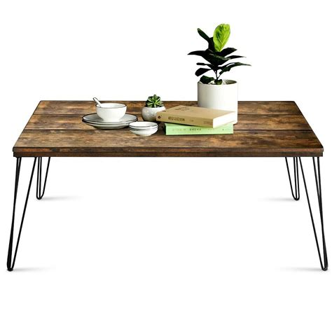 These wooden rectangle coffee table are offered in various shapes and sizes ranging from trendy to classic ones. Rustic Industrial Solid Wood Rectangular Cocktail Coffee Table in 2019   Furniture Tables ...