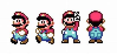 Mario Super Bros Pixel Evolution Famous 2d