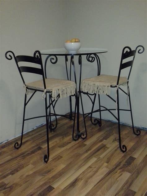 wrought iron pub table wrought iron pub table 2 chairs diggerslist