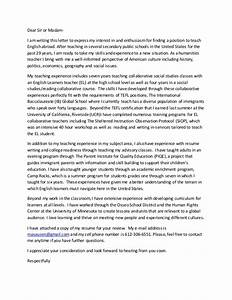 tefl cover letter With tefl cover letter example