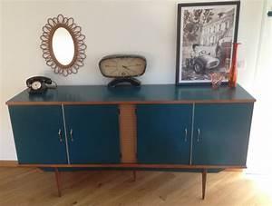 Meuble Bleu Canard : buffet vintage agathe ~ Teatrodelosmanantiales.com Idées de Décoration