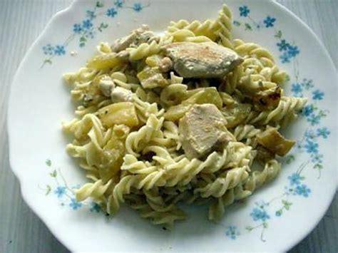 recette de pates au poulet et au fromage frais