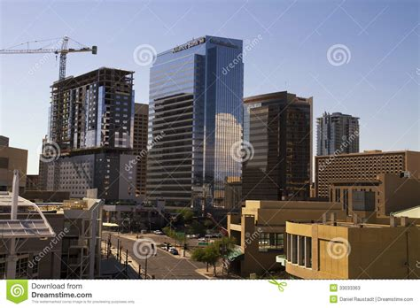 az bureau downtown office buildings arizona stock photo