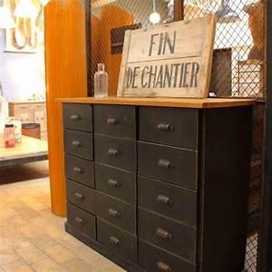 Mobilier Industriel Ancien : mobilier industriel ancien meuble d 39 atelier en bois ~ Teatrodelosmanantiales.com Idées de Décoration