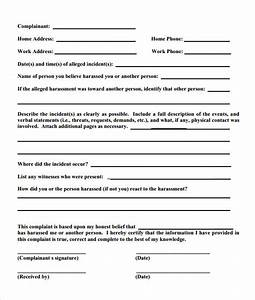 8 employee complaint form templates to download sample With hr complaint form template