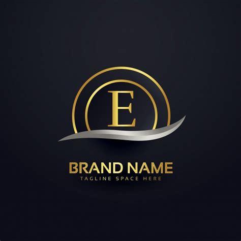 luxury letter e logo design vector free download