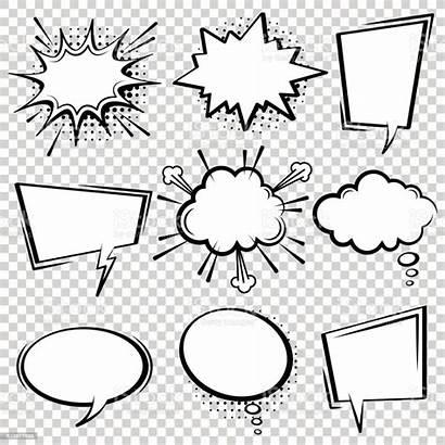Bubble Speech Comic Vector Boxes Cartoon Pop