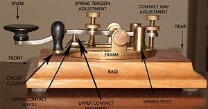 Morse Code Cw Key Telegraph  Straight    Parts Of A