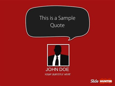 quotes powerpoint layout template