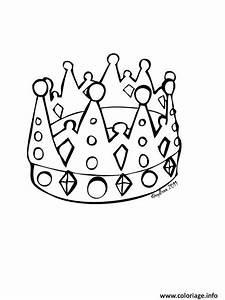 Couronne En Papier à Imprimer : coloriage couronne des rois simple dessin ~ Melissatoandfro.com Idées de Décoration