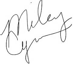 Miley Cyrus Signature PNG by MFSyRCM on DeviantArt