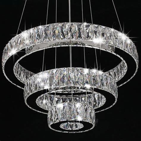 Large Circular Chandelier by Modern Ring Led Pendant L Ceiling Lights