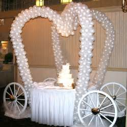 Wedding Balloon Table Decorations by Wedding Buffet Ideas Using Balloons For Buffet Table