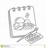 Coloring Cartoon Sketchbook Album Colorear Para Drawing Outline Brush Dibujos Paints Animados Del Paint Mushrooms Canvas Esquema Painting Lbum Preview sketch template