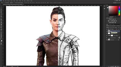 create  pencil drawing   photo  photoshop