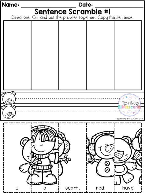free kindergarten sentence building winter edition 427 | 1b0afe52c33b06346b977edb40e10931