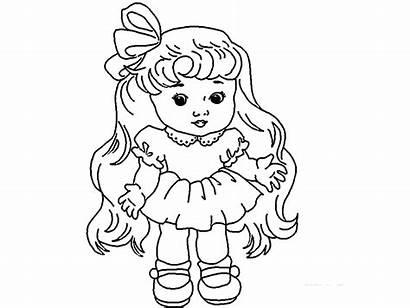 Doll Drawing Colour Sketch Sweet Cartoon Drawings