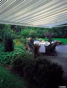 sonnenschutz fur ihre terrasse komfortable schattenspender With markise balkon mit tapete streifen schwarz weiß