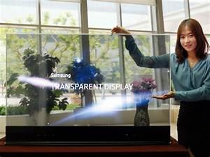 samsung zeigt transparentes und spiegelndes 55 zoll oled With balkon teppich mit oled tv tapete