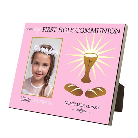 gifts for communion girl my holy communion personalized 4x6 picture frame for