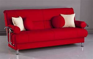 red futon sofa bm furnititure With red modern sofa bed