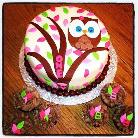 owl themed  birthday cakecentralcom