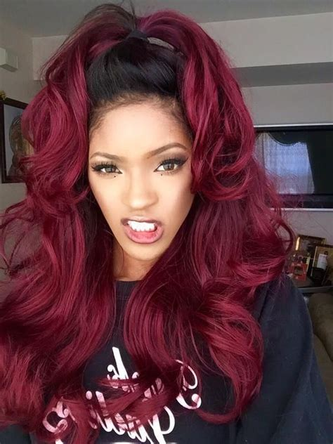 burgundy hair color  ideas  maroon hair trending