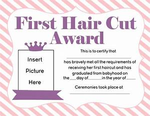download girls first haircut award printable for free With my first haircut certificate template