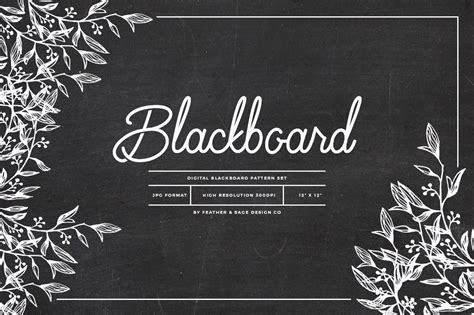 blackboard pattern set graphic patterns creative market