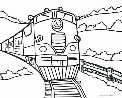 Train Coloring Pages Steam Printable Engine Sheets