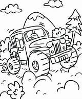 Coloring Road Trip Truck Monster Printable Getcolorings Getdrawings sketch template