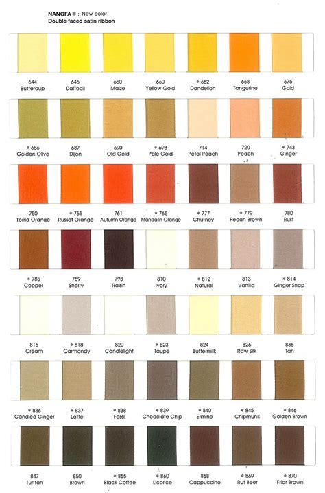textile color chart  silk linen satin ribbon hemp cotton  thailand