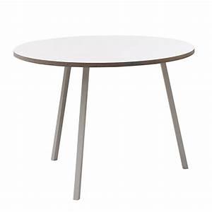 Tisch Rund Weiß : loop stand tisch rund von hay im shop ~ Markanthonyermac.com Haus und Dekorationen