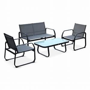Salon Aluminium De Jardin : salon de jardin 4 places en textil ne et aluminium ~ Dailycaller-alerts.com Idées de Décoration