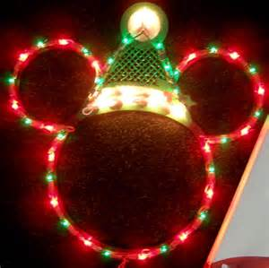 disney santa mickey mouse ears lighted christmas decoration new