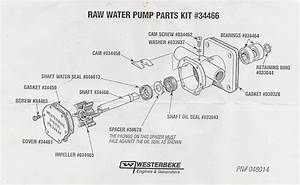 Westerbeke 42b Raw Water Pump Seal Failure