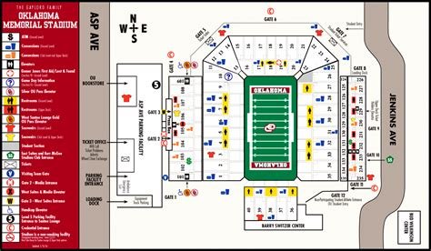 oklahoma memorial stadium map   brooks st norman  mappery