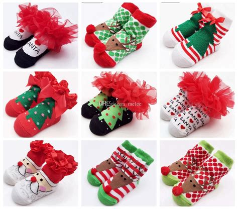 christmas gift ideas with socks 2016 baby socks new born gift tulle bow lace santa birthday gift for infant