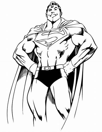 Superman Coloring Dc Pages Outline Comics Characters